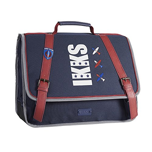 IKKS Flight #0018 Cartable, 38 cm, Bleu