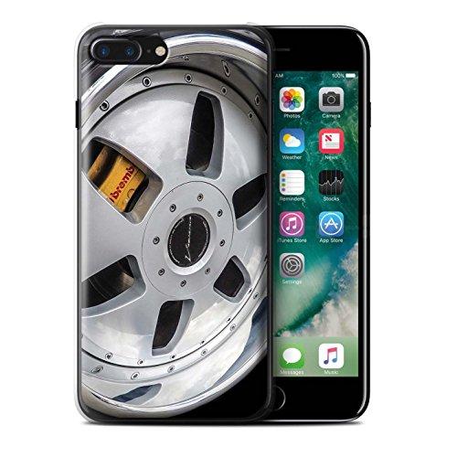 Stuff4 Hülle / Case für Apple iPhone 7 Plus / Rosa/Lila Muster / Leichtmetallfelgen Kollektion Silber/Gelb