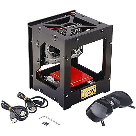 Mini USB Incisore Stampante Laser, 1000mW Engraver Macchina per Incisione, Operazione Off-line con Occhiali (108 Chiave Usb)