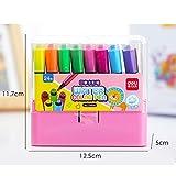 Penna acquerello 12 penna disegno a colori inchiostro brillante penna acquerello liscia e morbida punta, penna acquerello giocattolo per bambini, utilizzata per la pittura, ecc. (Color : 4)