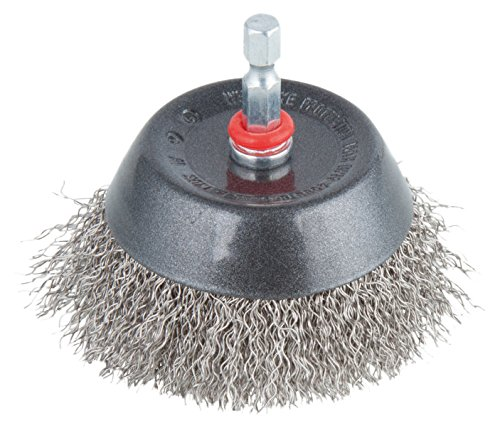 Wolfcraft 2746000 Brosse Inox soucoupe queue 6 pans 1/4\\