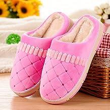 c30013411c7cf YMFIE Otoño Invierno Hombre señoras Zapatos Zapatillas de algodón Interior  térmica Piso casa ...