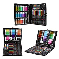 Baywell Water Color Pen Drawing Painting Art Crayon Set for Kids Stationery Kit Gift 150 Pcs