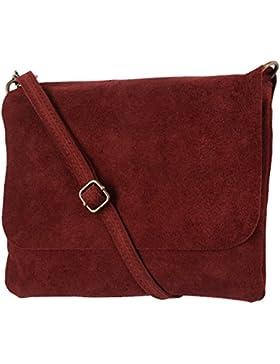 Clutch / Minibag, Umhängetasche Mod. 1400 echtes Wildleder, Italy