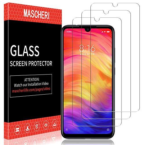 MASCHERI Schutzfolie Für Xiaomi Redmi Note 7 / Note 7 Pro Panzerglas,[3 Stück] Displayschutzfolie Displayschutz Glas Folie Für Redmi Note 7 / Note 7 Pro - klar