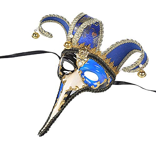Story of life Masquerade Mask Venezianische Musical Karierte Party Maske Halloween Mardi Gras Maske Perfekt Für Fasching, Karneval & Halloween,Blue3
