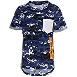 Jungen Camouflage T-Shirt Kurzarm Polo Shirt Stretch Bluse Kinder 21760