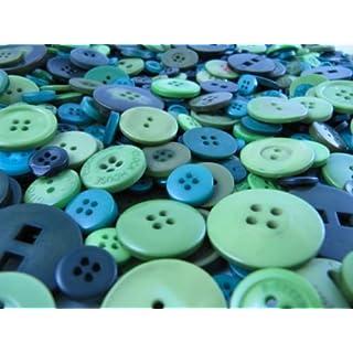 1kg gemischte grün Tasten, viele verschiedene Formen, Größen, Shades und Design in jede Tasche