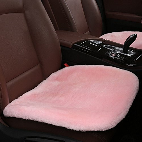 Universal Auto-Kissen, bequem und atmungsaktiv Autositzbezüge, rutschfesten Winter Sitz cover1pcs (Kurzen Tan Satz)