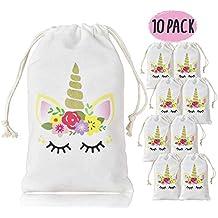 KREATWOW Unicornio para Bolsos de Regalos para niñas de niños, Bolsos con Cordones para la
