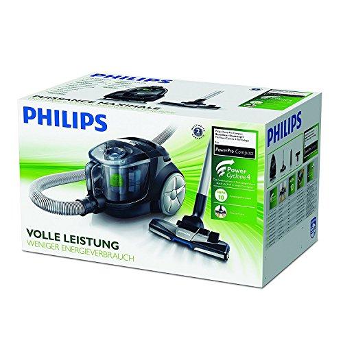 Philips PowerPro Compact FC8477/91 beutelloser Staubsauger (650 W, EPA, 10 Filter) grau