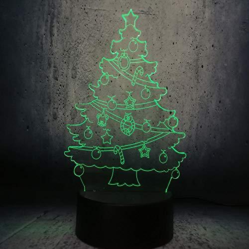 er Weihnachten Mit Puderzucker 3D Usb Led Birne Lampe Dekor Geschenk Farbverlauf Lichterkette Romantisches Zuhause Schreibtisch Dekor Neujahrsdekor ()