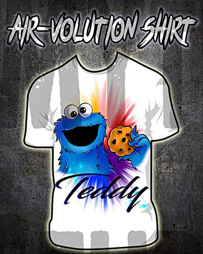 Cookie Monster Thema - Mythic Airbrush Personalisierte Airbrush Cookie Monster