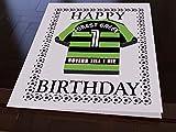 MyShirt123Geburtstagskarte, Kühlschrankmagnet, Motiv: Sky Bet 2. Liga Fußballtrikot –personalisierbar, Forest Gr