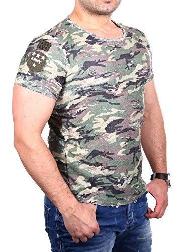Red Bridge Herren Oberteile / T-Shirt Destroyed Camouflage