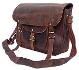 FeatherTouch Handtasche Umhängetasche Notebooktasche Macboook 13 Zoll Vintage Festivaltasche Party-Tasche Abendtasche Ledertasche Echt Leder Damen