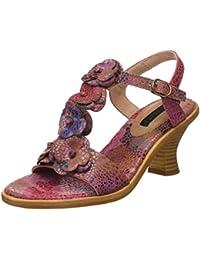 Neosens S982 Fantasy Floral Rose Negreda, T-Strap Sandals Femme