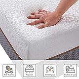 BedStory Matelas 18cm 7 Zones de Confort, Matelas Mousse avec Tissu Antiacarien Respirant et Hypoallergénique, Certification ISO 9001