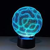 Lampada 3D Camera da letto Lampada da notte decorativa 7Colore Cavo USB Pulsante Smart Touch LED Lampada da tavolo da tavolo Lampada da regalo per bambini Regalo B3 han-7381