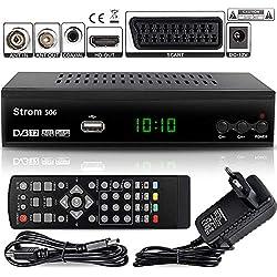 Strom 506 - TNT HD Decodeur TNT HD Pour TV / Recepteur TNT HD / Adaptateur TNT Décodeur TNT / Boitier TNT HD / Tuner TNT Decodeur TV Demodulateur TNT Decodeurs TNT Full HDMI Terrestre Parabole, Noir