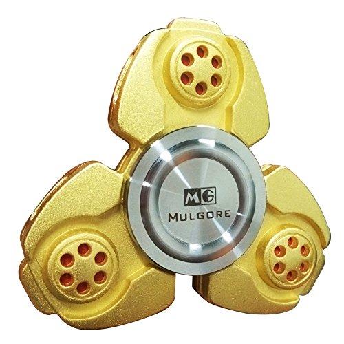 MULGORE CKF Fidget Spinner Hand Spinner 2017 Heiß begehrtes Tri Finger Spielzeug Beste Kinder Geschenk hohe Geschwindigkeit 1-5 Minuten Spin-Zeit aus premium Qualität Hergestellt sehr (Ninja Kit Zubehör)