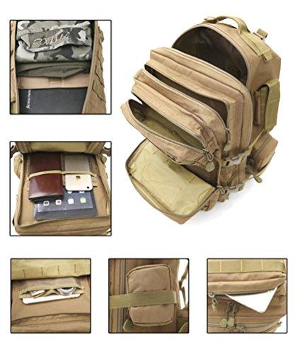 60L Wandern Rucksack mit Molle Tasche / Militär Tasche / Militär Rucksack / Rucksack Uniform / Camping taktischen Rucksack (Camouflage / schwarz / ACU / khaki) C