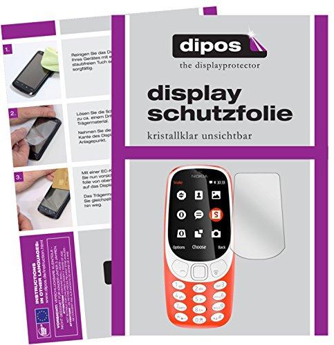 dipos I 2X Schutzfolie klar passend für Nokia 3310 Folie Bildschirmschutzfolie