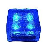 Lecimo 4LED Grande Lampada Solar Power Ice Brick Luce Impermeabile Percorso Yard Garden Lamp Decor, 3#