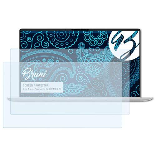 Bruni Schutzfolie für Asus ZenBook 14 UX433FN Folie, glasklare Displayschutzfolie (2X)
