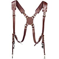 Boosty® Leather Pro in Style Camera Strap Accessories for 2 Cameras/Dual Shoulder Leather Harness/Multi-Camera Gear for…