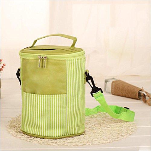 MOXIN Pacchetto di isolamento - Portable Circolare Pranzo Refrigerato Addensato , medium: pretty powder (ice pack) size: fresh green (ice pack)