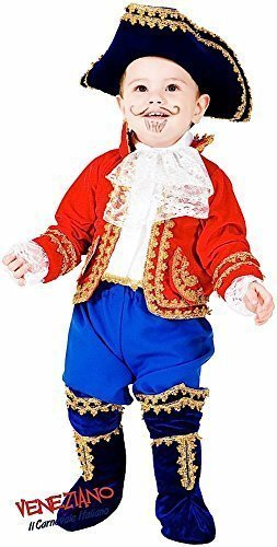 e Herstellung Deluxe Baby Kleinkind Jungen Mädchen Pirat KAPITÄT Halloween Karneval Kostüm Kleid Outfit 0-24 Months - Gold / rot/weiß, 1 Year ()