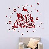Navidad nieve pegatinas de pared calcomanías para niños decoración del hogar decoración del arte...