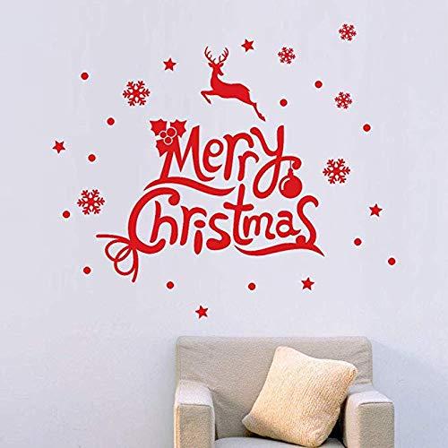 Weihnachten Schnee Wandaufkleber Decals Kinderzimmer Dekoration Kunst Dekor Günstige Clearance 60 * 70 cm (Clearance Schneeflocke Dekorationen)