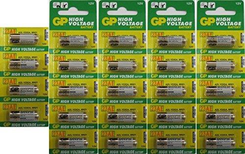 GP High Voltage 12v A23 23AE Batteries x 24 Size: 24 Pack, Model: , Gadget & Electronics Store Security Garage Door Opener