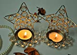 TIEDRIBBONS Handmade Glass T lights hold...