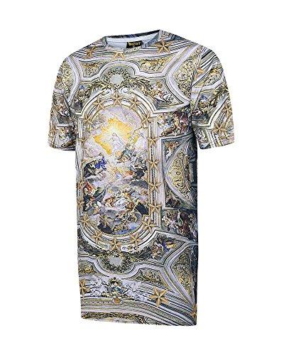 Pizoff Unisex Digital vacanze Print Beach T-shirt con affreschi della cappella barocca