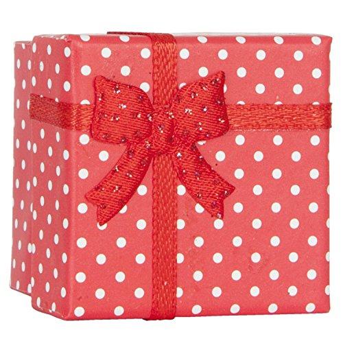 6PA0398R Clayre & Eef - Scatola per regalo - Scatola per regali - Rosso a punti ca. 4 x 4 cm