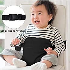 Kids Safety Belt for Chair Baby Sitting and Feeding Belt Along with Adjustable Straps and Locks Mom and Child Feeding Belt (Black)