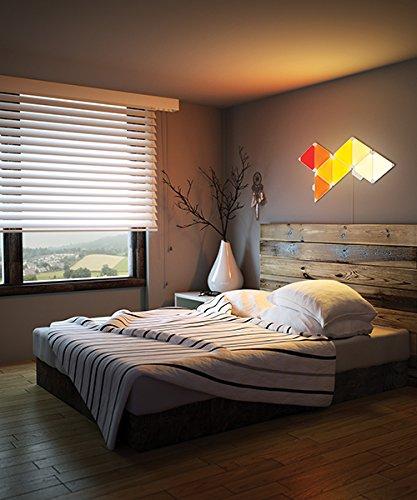 nanoleaf Light Panels (Aurora) Rhythm Starter Kit – 9x Modulare Smarte LED & Sound Modul – Lichtpanels mit App Steuerung - 7