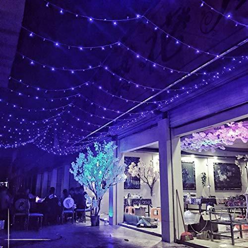 YCHBOS Halloween LED Lanterna String Lights Lampeggiante Festa Stellata Natale Impermeabile Decorazione della Stanza Halloween (Color : Blue, Size : 20M)
