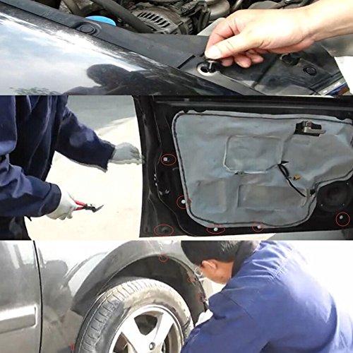 456 Pcs Vehicle Clips Agrafe Rivets de Fixation en Plastique Auto Universal Mttache Mixte Avec Boîte 5 pcs Outil Démontage Installation Audio Garniture Intérieur Installation