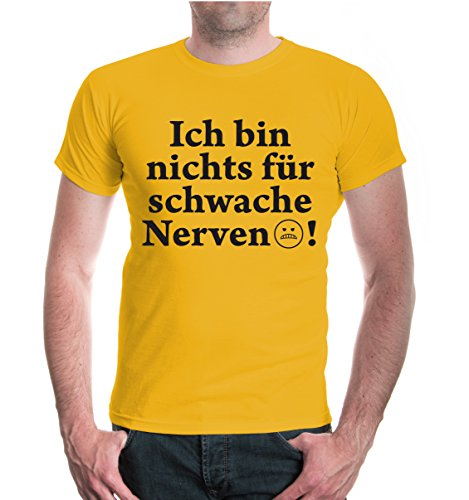 buXsbaum® T-Shirt Ich bin nichts für schwache Nerven Sunflower-Black