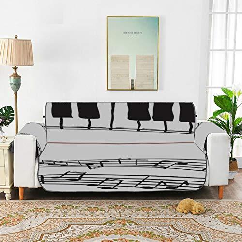 Piano astratto nota di musica divano nero sedia fodera per divano copridivano singolo estraibile copridivano elastico da 66