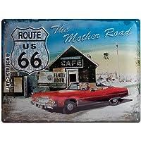 Nostalgic-Art 20371 - Placa decorativa (30 x 40 cm), diseño con texto The mother road. Route 66 US Highway