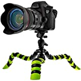 """Coolway® 11,5"""" Zoll Pipi Große Krake-Stativ für DSLR-Kamera Super Flexible Gelenke Schnellspannclip mit Sicherungsring - Schwarz / Grün"""