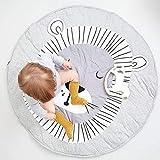 AIBAB Baby Spielmatte Rainforest Erlebnisdecke Neue Europäische und Amerikanische Löwen Druck Baumwolle Krabbeldecke Spiel Matte Teppich Schlafdecke Kinderzimmer Dekoration Kann Gewaschen Werden