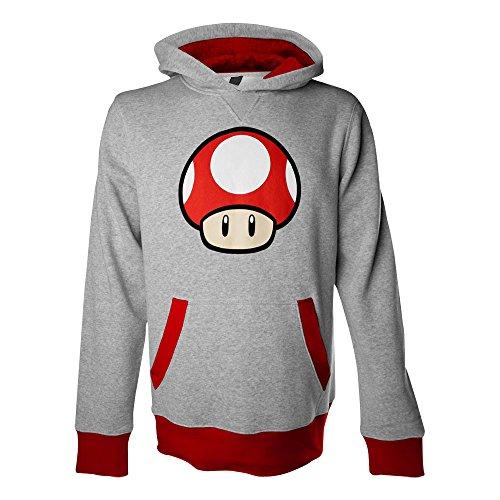 NINTENDO Super Mario Brothers Mushroom Hombres sudadera con capucha (S