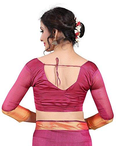 KSH Trendz Mysore Art Silk Saree With Blouse For Women & Girls (Baby Pink)