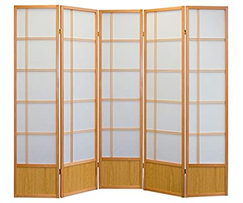 AKIO ROOM DIVIDER SCREEN - NATURE - 5 PANEL FOLDABLE PRIVACY SCREEN - THESE ARE HIGH QUALITY DRESSING SCREENS / PARTITIONS FROM ROOM DIVIDERS
